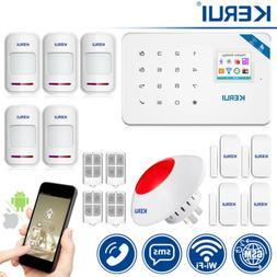 KERUI Wireless LCD Keypad WIFI GSM SMS 2G Apartment Alarm Se