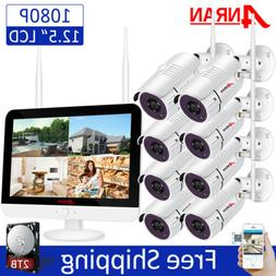 ANRAN Wireless Security Camera System Home Outdoor WIFI 8CH