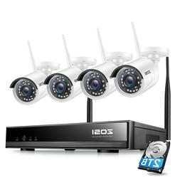 ZOSI Wireless Security IP Camera System 1080p 2TB 8 Channel