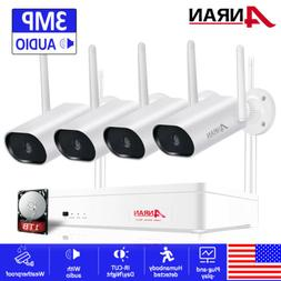 ANRAN Wireless Security WIFI Camera System 1080P 8CH Outdoor