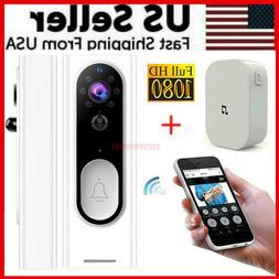 Two-Way Door Bell WiFi Wireless Video 1080P HD Doorbell Smar
