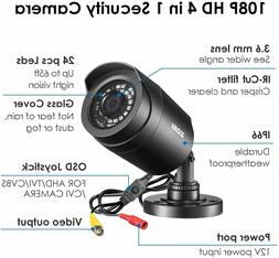 ZOSI HD 1080p 4in1 Outdoor CCTV Bullet Security Surveillance